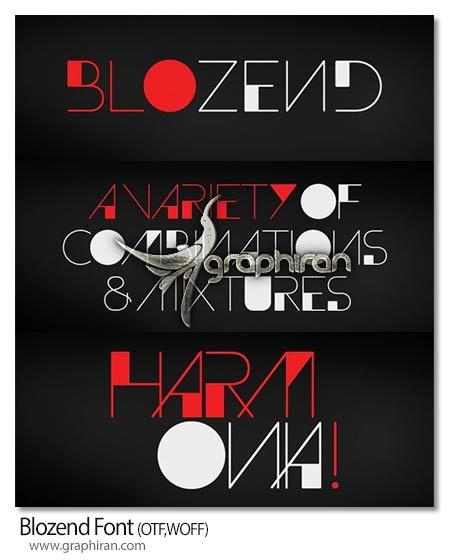 فونت انگلیسی طراحی لوگوفونت Blozend