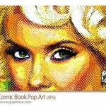 اکشن فتوشاپ افکت نقاشی کتاب های مصور Comic Book Pop Art