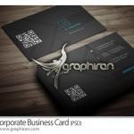 دانلود کارت ویزیت اداری با تم مشکی فرمت PSD – شماره ۲۷۹
