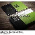 طرح لایه باز کارت ویزیت شرکتی سبک فلت خلاقانه – شماره ۲۷۶