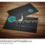 کارت ویزیت تیره با بک گراند بسیار زیبا فرمت PSD – شماره ۲۷۸