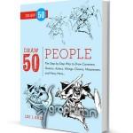 دانلود کتاب آموزش نقاشی ۵۰ نوع شخصیت آدم Draw 50 People