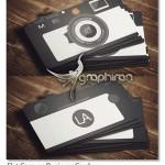 کارت ویزیت عکاسی آماده و لایه باز با طرح فلت – شماره ۲۶۴