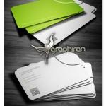 طرح کارت ویزیت دوستانه با تم رنگی سبز و سفید – شماره ۲۶۹