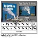 ۱۷ براش فتوشاپ دود کارخانجات صنعتی Industrial Smoke Brushes