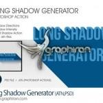 اکشن فتوشاپ ساخت سایه بسیار کشیده Long Shadow Generator