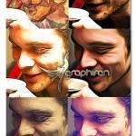 اکشن فتوشاپ ساخت ۷ نوع افکت نقاشی رنگ روغن مبتکرانه