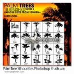براش فتوشاپ درخت نخل و خرما Palm Trees Photoshop Brush