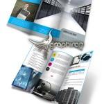 دانلود طرح آماده بروشور ۳ لت تجاری با طراحی حرفه ای