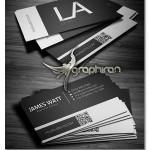 دانلود فایل لایه باز کارت ویزیت سیاه و سفید شیک – شماره ۲۷۰
