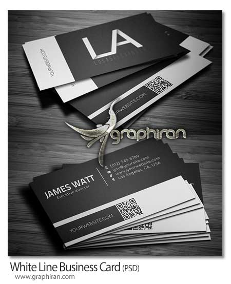 کارت ویزیت سیاه و سفید