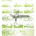 دانلود وکتورهای طرح شاخ و برگ های متنوع محصول ShutterStock