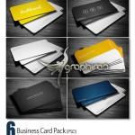 مجموعه ۶ کارت ویزیت ساده و مدرن PSD لایه باز – شماره ۲۶۷