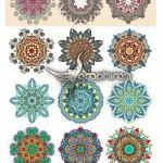 دانلود مجموعه عظیم وکتور طرح های دایره ای سنتی و تزئینی