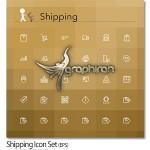 مجموعه آیکون های خطی حمل و نقل کالا Shipping Icon Set