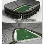 مدل آماده سه بعدی ورزشگاه فوتبال برای ۳ds Max و Cinema 4D