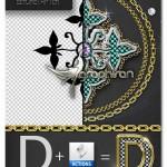 ابزار فتوشاپ ساخت افکت الماس، طلا و نقره همراه براش زنجیر
