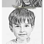 اکشن جالب فتوشاپ خلق طرح مدادی Clean Sketch Photoshop Action
