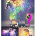 اکشن فتوشاپ افکت کیهان و کهکشان Cosmic Photoshop Action