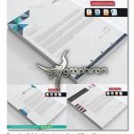 Creative Modern Letterhead Bundle 150x150 دانلود طرح مدرن سربرگ اداری و همچنین شرکت فرمت EPS، AI و همچنین DOC