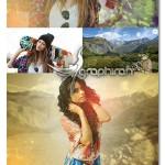 قاب عکس افکت دو تصویر در هم Dual Photo Effect Photo Template