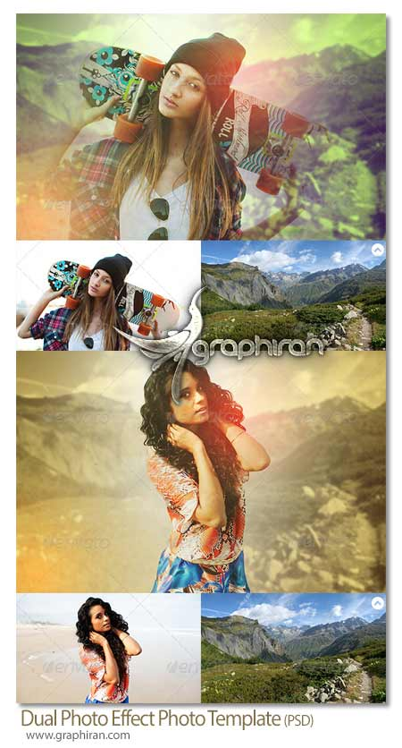 Dual Photo Effect Photo Template