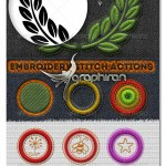 Embroidery and Stitching Photoshop Creation Kit 150x150 افکت مو و دور دوزی پارچه Fur & Knitted Fabric Photoshop Actions