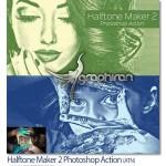 اکشن فتوشاپ ساخت افکت ترام Halftone Maker 2 Photoshop Action