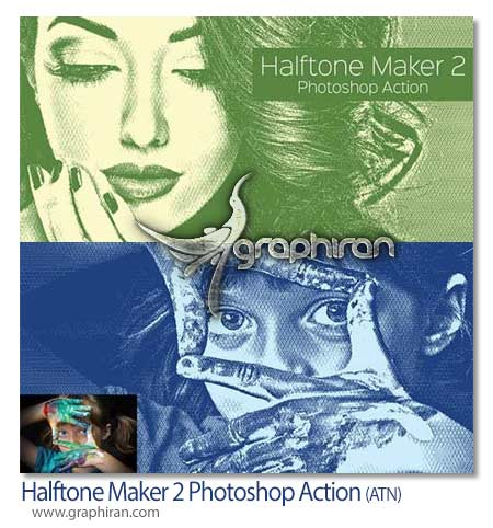Halftone Maker 2 Photoshop Action