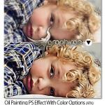 اکشن فتوشاپ افکت نقاشی رنگ روغن با گزینه های رنگی متعدد