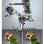 اکشن فتوشاپ انفجار ظرف چینی Porcelain Blast Photoshop Action