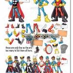 کیت طراحی کاراکترهای ابر قهرمان کارتونی Manga Superhero Mascot