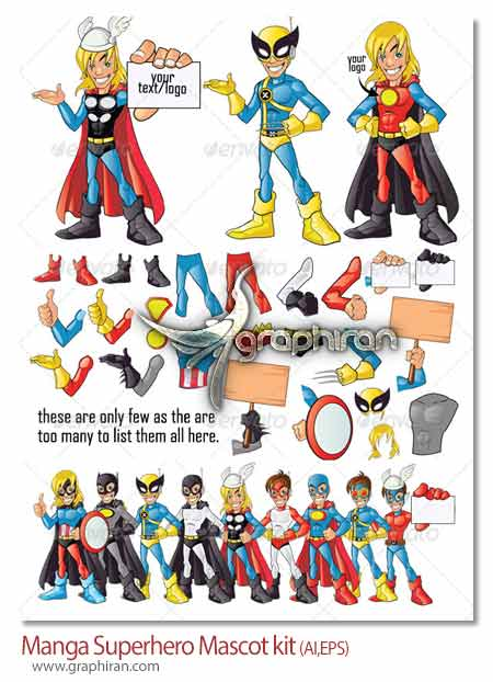 Manga Superhero Mascot kit