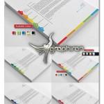 دانلود طرح آماده سربرگ رنگارنگ فرمت های EPS، AI، PSD و Docx