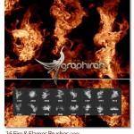 ۱۶ براش فتوشاپ آتش و شعله با کیفیت Fire & Flames Brushes