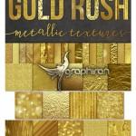 مجموعه تکسچر و بک گراند ورق طلا Gold Foil Textures Backgrounds