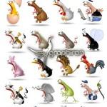 تصاویر استوک کاراکترهای کارتونی حیوان و آدم متعجب از Fotolia