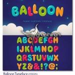 دانلود فونت انگلیسی بادکنکی کودکانه Balloon Typeface