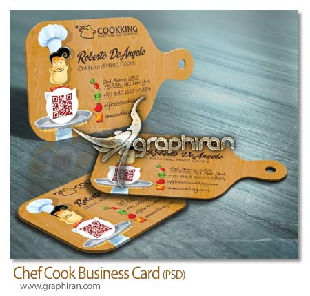 کارت ویزیت سر آشپز و رستوران