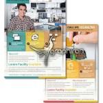 دانلود تراکت تبلیغاتی تعمیرات موبایل و کامپیوتر PSD لایه باز