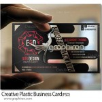 طرح لایه باز کارت ویزیت پلاستیکی شفاف خلاقانه – شماره ۲۹۷
