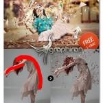 اکشن فتوشاپ افکت خرد کردن عکس Dispersion Photoshop Action