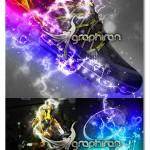 اکشن فتوشاپ افکت جریان الکتریسیته Electrum Photoshop Action