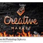 Fire Art Photoshop Style 150x150 تصاویر حروف و المان های گرافیکی آتشین Fire Alphabets & Abstracts