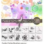 دانلود براش فتوشاپ دایره های تو در تو Funky Circles Brushes
