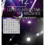 براش فتوشاپ افکت های نور و ستاره Lens Flare & Stars Brushes