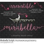 دانلود فونت انگلیسی چسبیده و فانتزی Mirabella Script