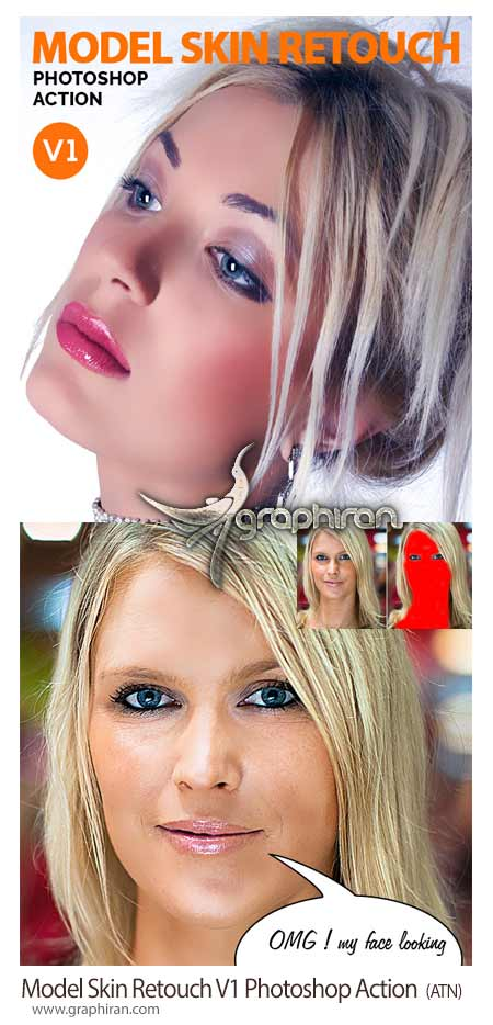 Model Skin Retouch V1 Photoshop Action