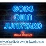 دانلود فونت و اکشن فتوشاپ ساخت افکت نئون Gods own Junkyard