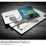 کارت ویزیت تجاری مدرن و شیک PSD لایه باز – شماره ۲۹۸